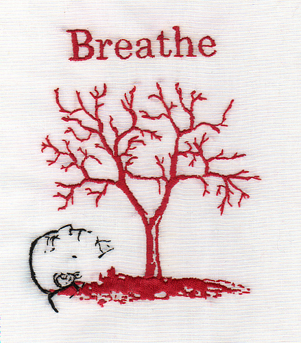 Bascom Hogue - Breathe- Hand Embroidery