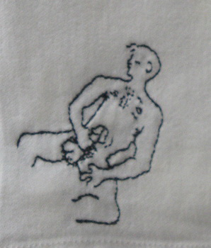 Mr Peacock's naught hand embroidered napkins