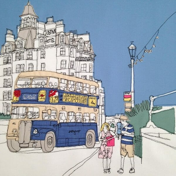 Gillian Bates - Eastbourne Bus - Machine Embroidery