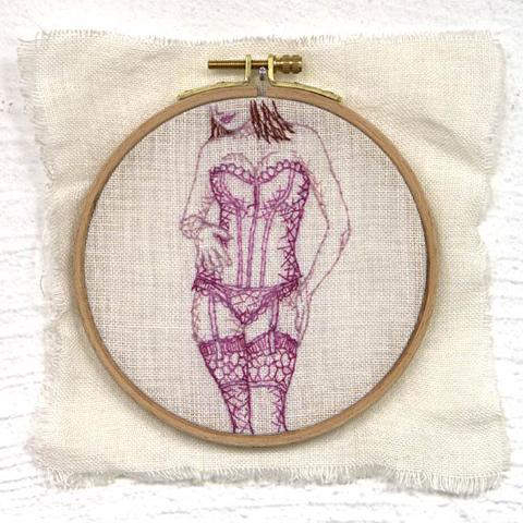 Silke Krah Sexy Lady Hand Embroidery