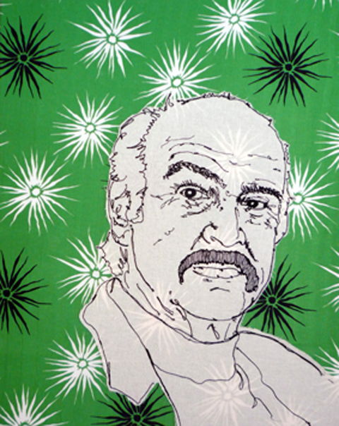 Angharad Jefferson Sean Connery Embroidery