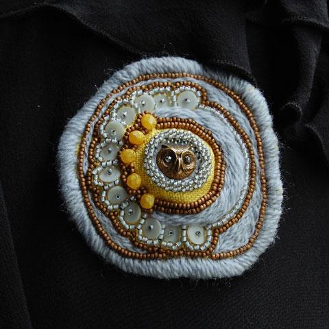 Beaded Owl Brooch By Lemon Grove On Etsy