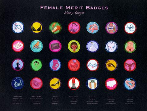 Mary Yaeger Merit Badge Poster