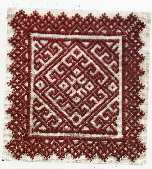 Navalcan Redwork Handkerchief