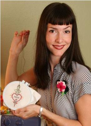 It's Jenny Hart of Sublime Stitching
