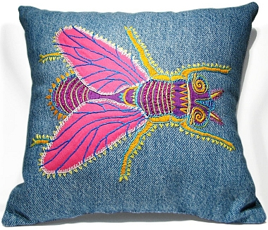 Sylvia Windhurst's fly pillow