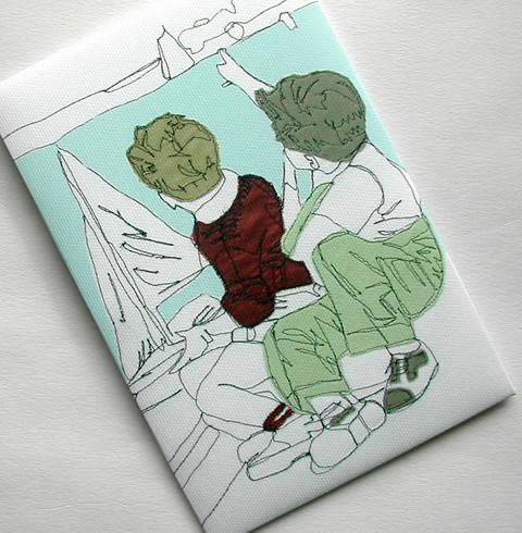 Gillian Bates - Sailing Postcard