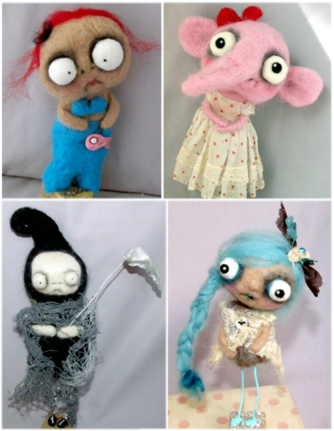 Paper Moon's Needle Felted Creations