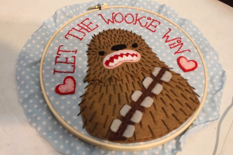 loveandasandwich - Let The Wookie Win Hand Embroidery
