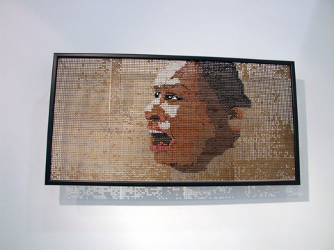 Ami Grinsted - Sorrow - hand embroidery on wood