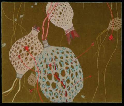 Leah Evans Symbiosis hand embroidery