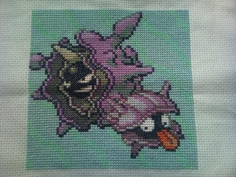 Holder of Anime - Pokemon Cloyster cross stitch