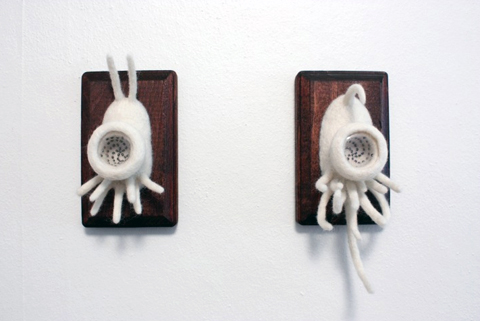 Zoe Williams - Parallax V needle felted art