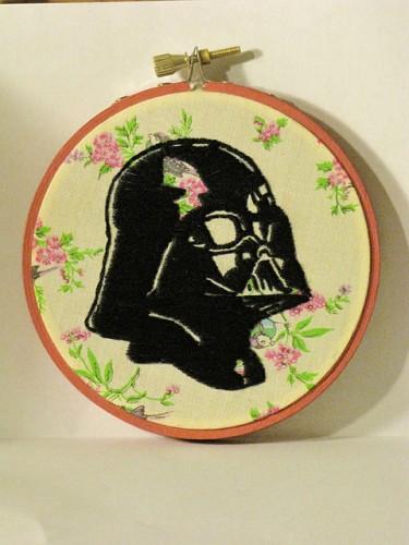 GigglyMama's Darth Vader Star Wars Hand Embroidery