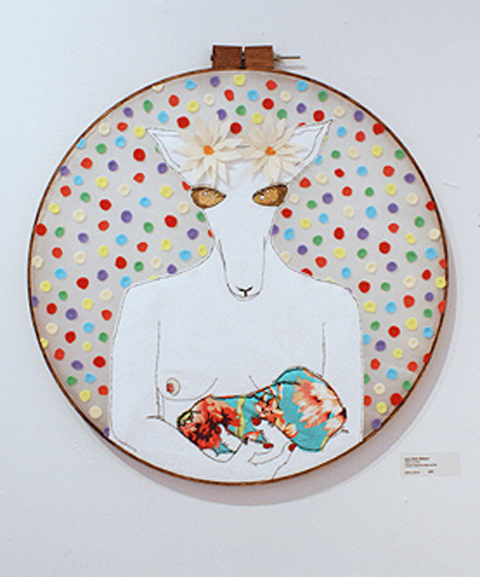 Carly Altree-Williams - Mother and Child hand embroidery