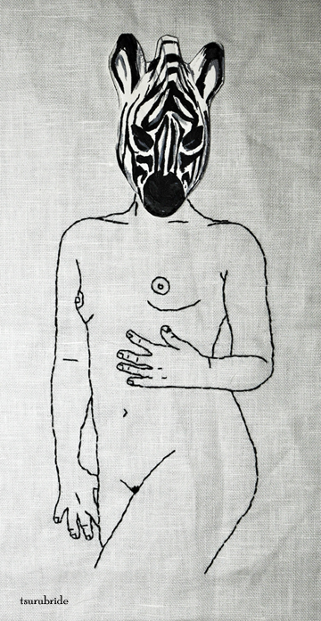 TsuruBride - States of Undress No 5 hand embroidery