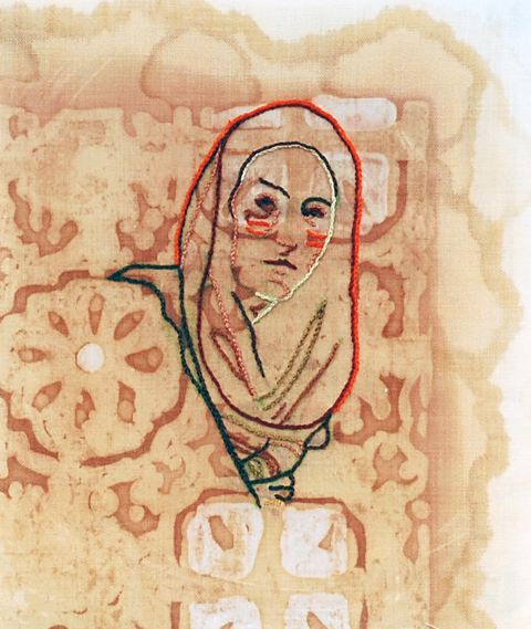 Amelia Harnas - All Truths Wait in All Things hand embroidery