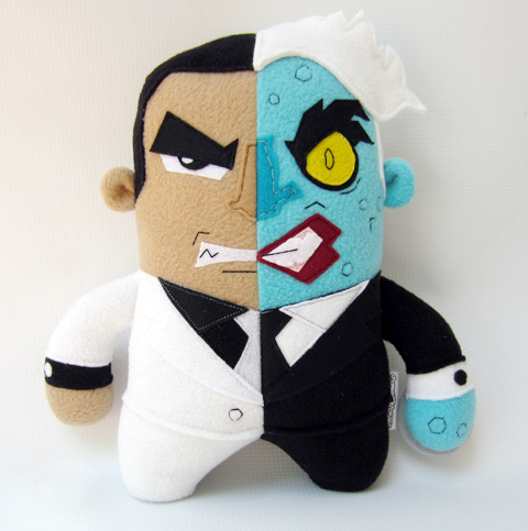 Channel Changers' Two-Face plush