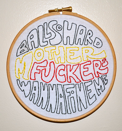 Ball So Hard hand embroidery by fawnandpeach