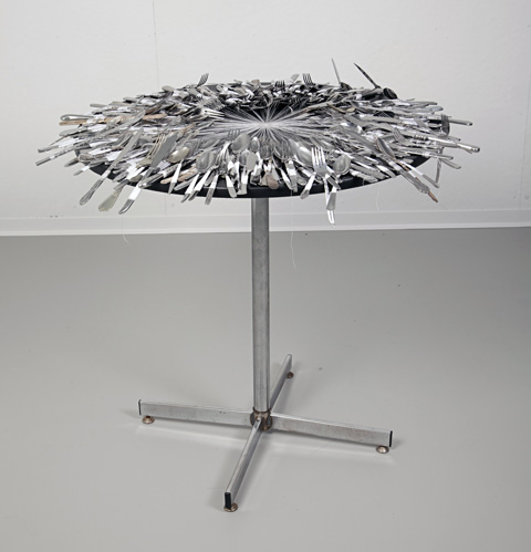 Olivia Valentine - lacework installation