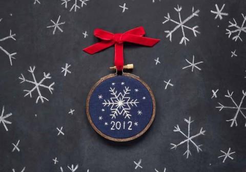 Stitched Snowflake Ornament by miniaturerhino