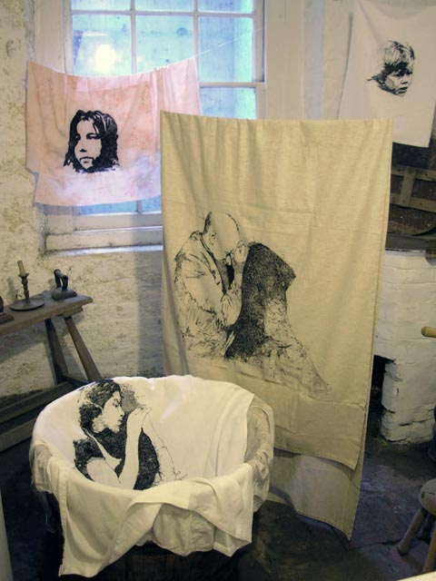 Magali Rizzo - Haunted Wash House - embroidery installation