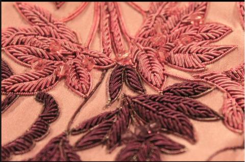 pink cut work