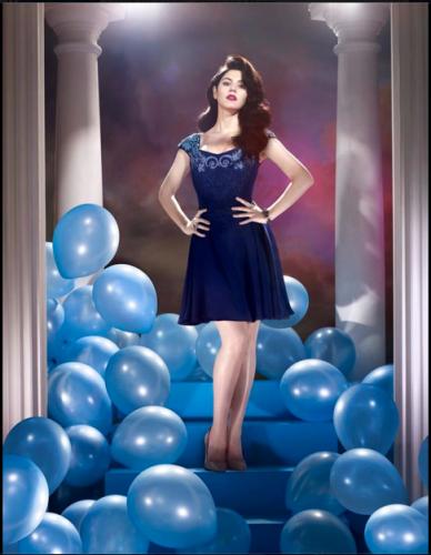 Blue dress baloons marina