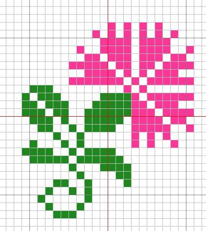 Coloured blocks cross stitch pattern
