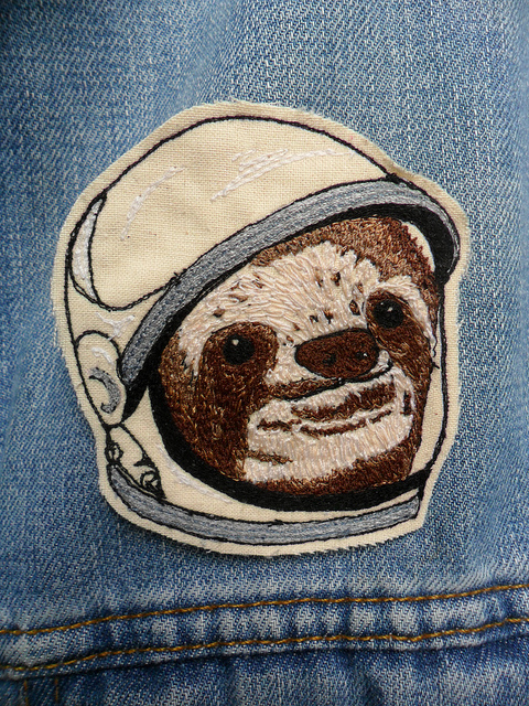 LeighLaLovesYou's Space Sloth patch