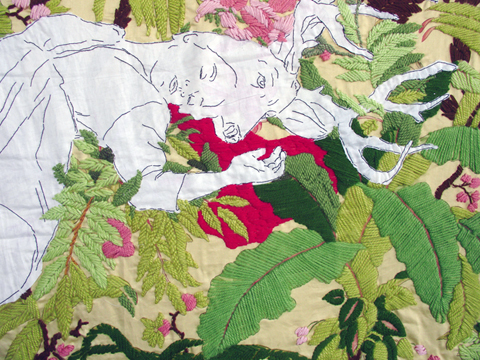 Ana Teresa Barboza - Untitled - hand embroidery on fabric