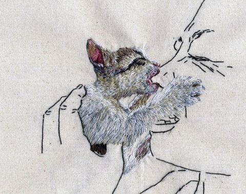 Ana Teresa Barboza - Untitled - hand embroidery