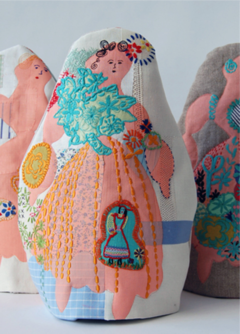 Maxine Sutton - Marjory - embroidered tea cosy