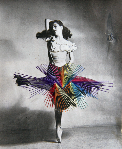 Jose Romussi - Dancer Diana Adams - Embroidery on photo (2012)
