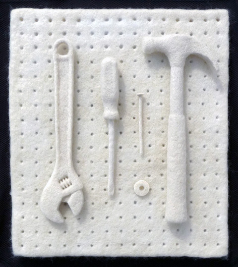 Gary Schmitt - Five Tools - needle felting