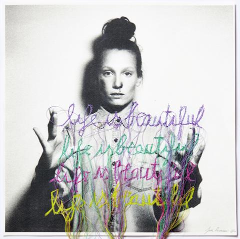 Jose Romussi - Life is Beautiful - sewing machine on photo (2013)
