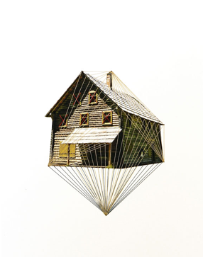 Thread on paper, size: 21×29,7 cm / 8.26×11.75 inches, 2012
