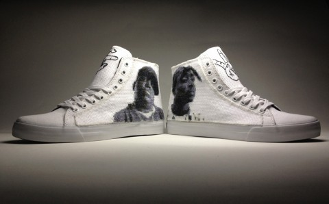Davey Gravy - East Coast vs West Coast Cross Stitched Shoes