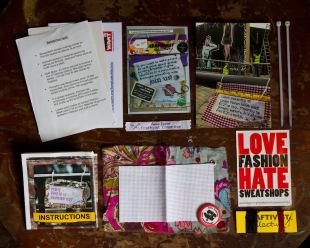 Craftivist Collective's Love Fashion Hate Sweatshops Mini Protest Kit