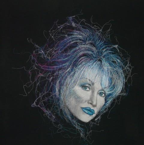 Birgitte Busk - Dolly Parton - Machine Embroidery