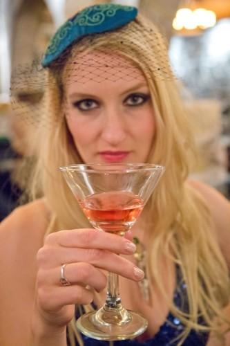 Emily Moe - Beaded Fascinator With Veil