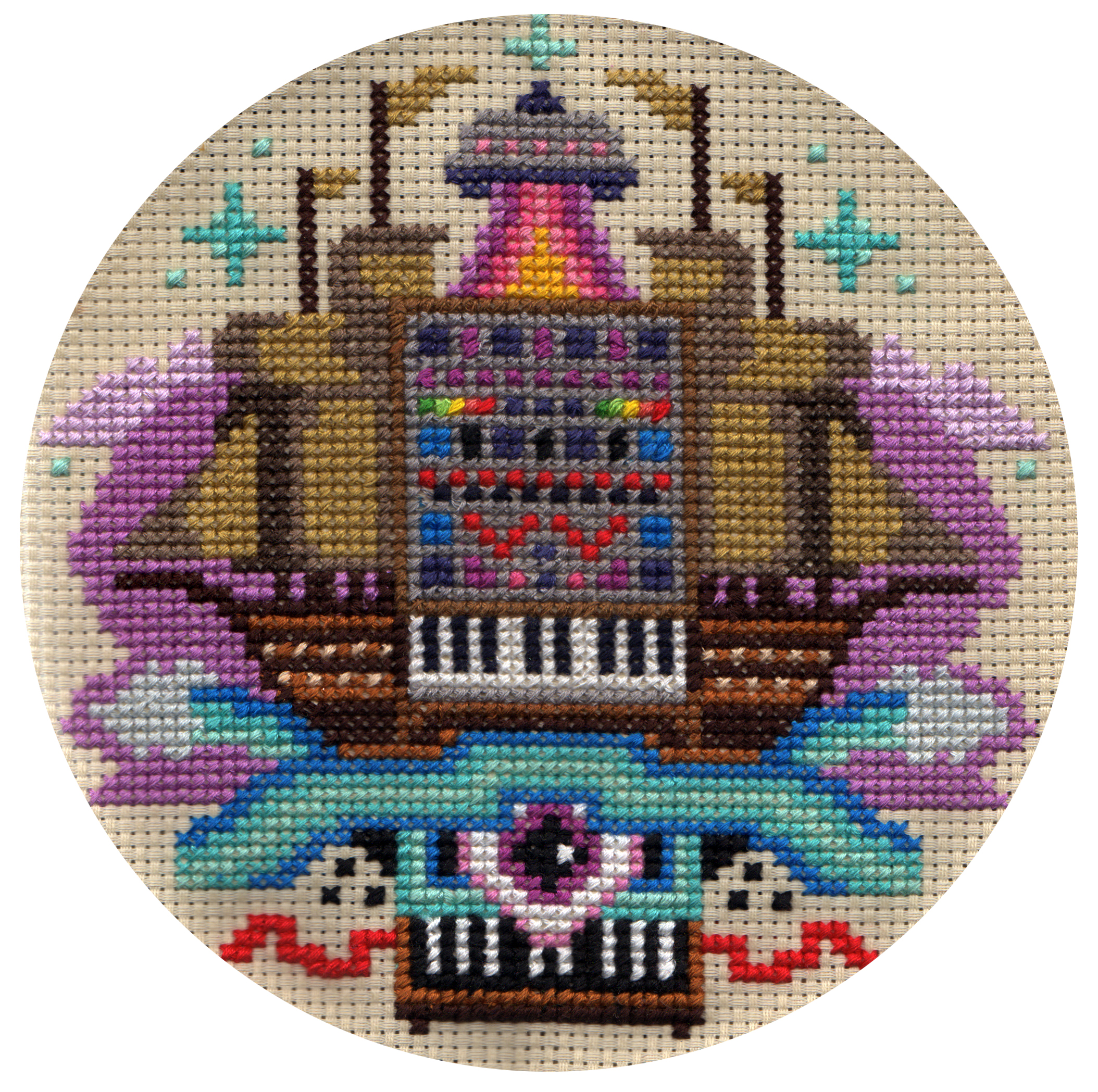 Pete Fowler - Synth Galleon - Cross Stitch