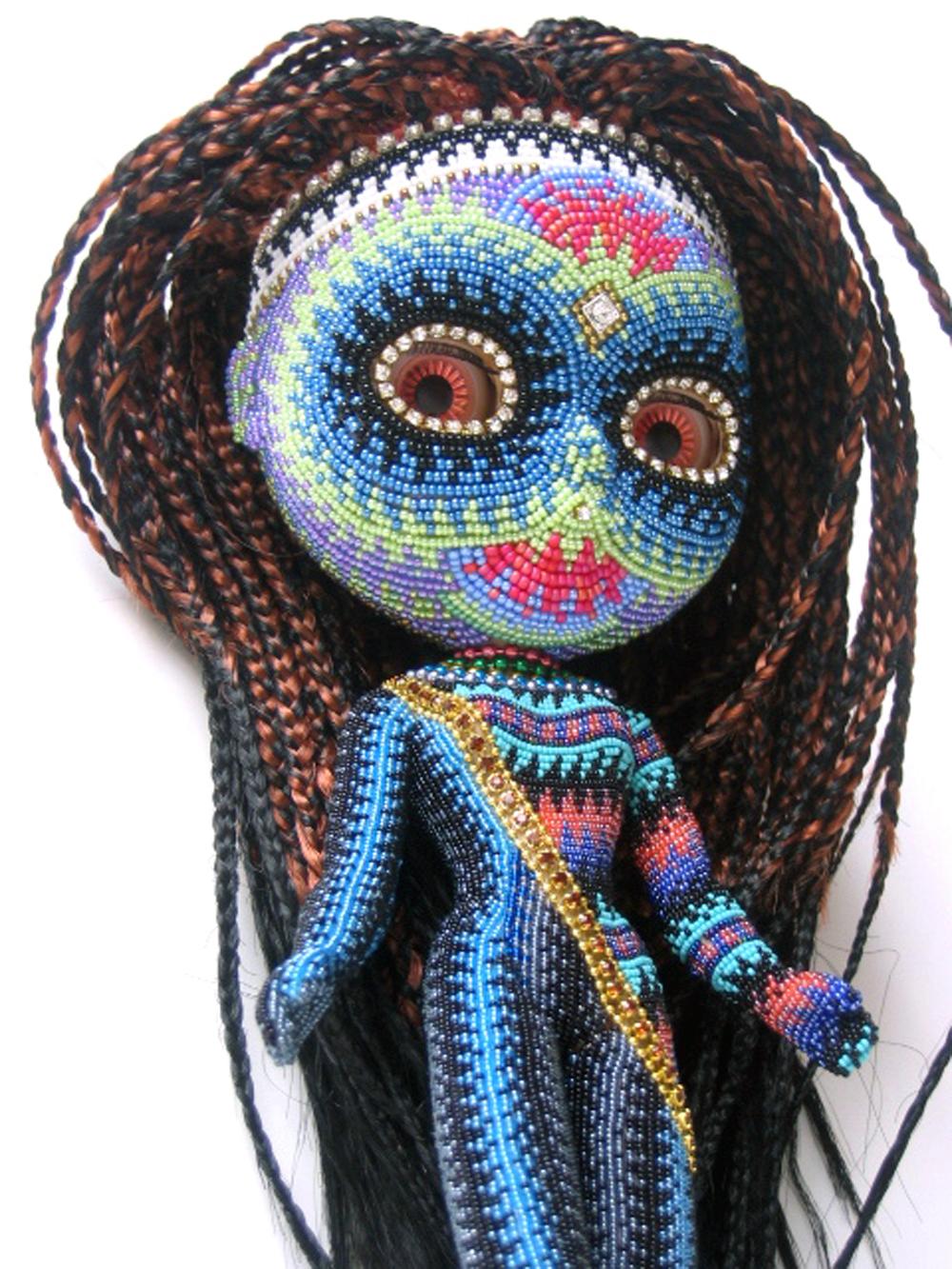 Jan Huling - Blythe (detail) - beadwork