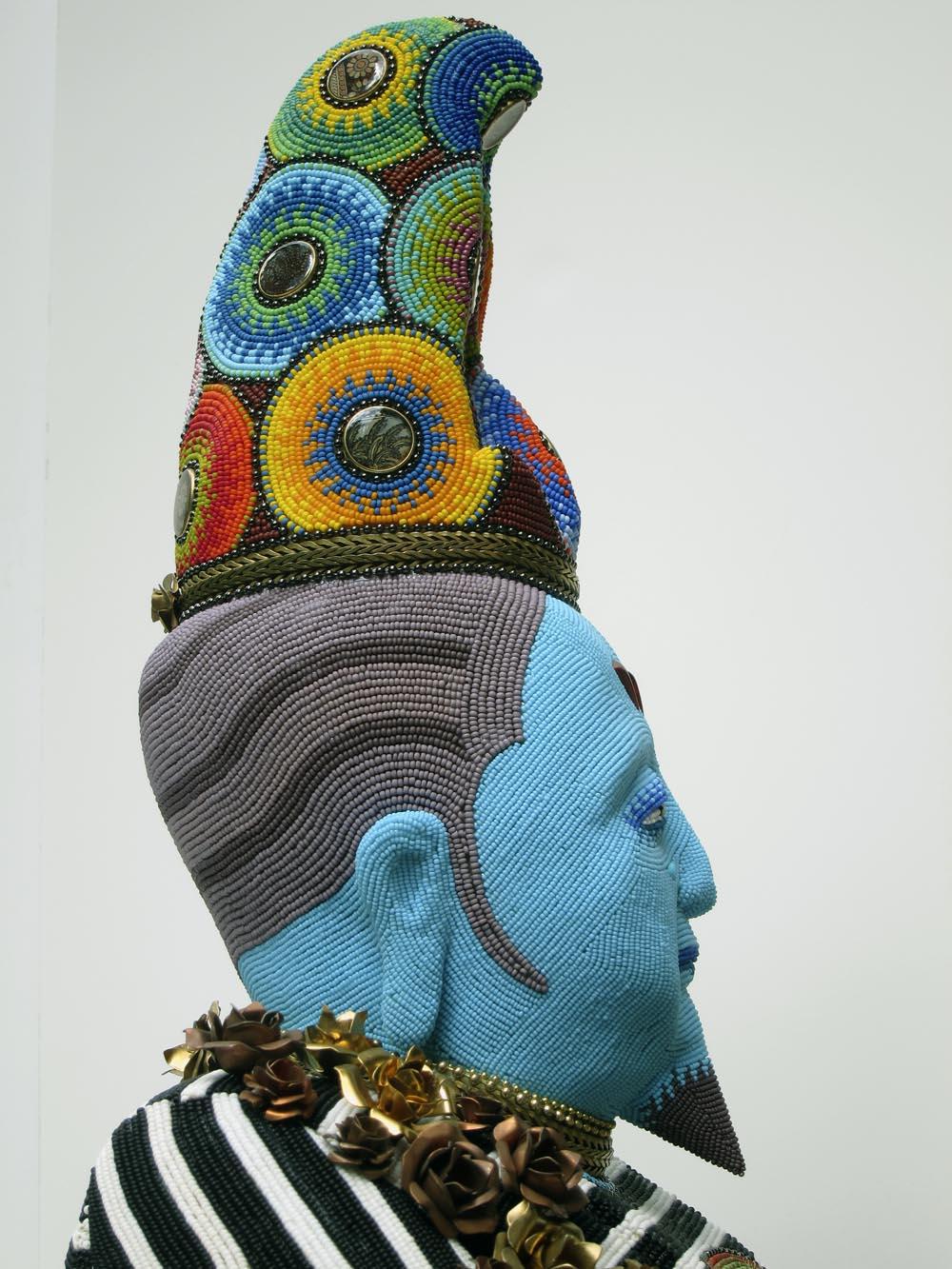 Jan Huling - Pasha (detail) - beadwork
