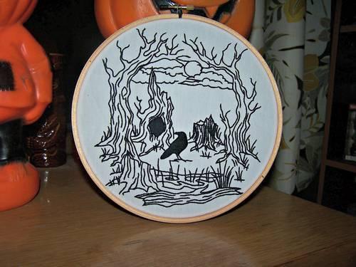 KittyKill's Secret Skull Hand Embroidery