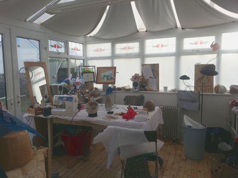Lina Stein Studio before class