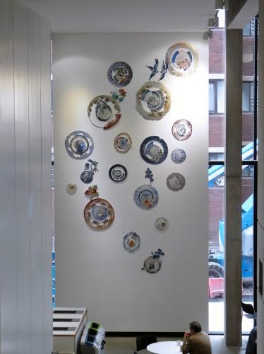 Harriet Lawton - Textile Plate Display