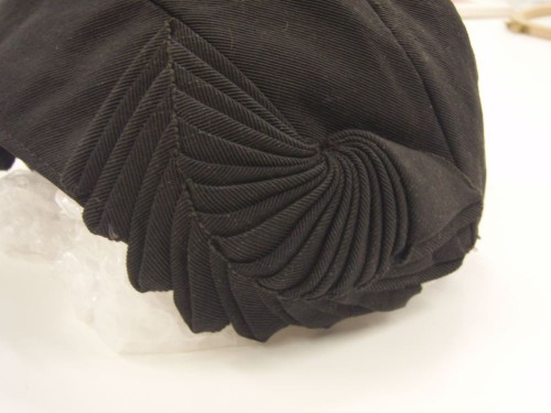 Pleated hat trim