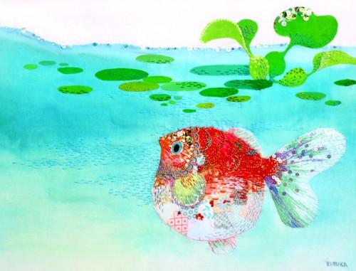 Kimika Hara - Goldfish - Hand Embroidery