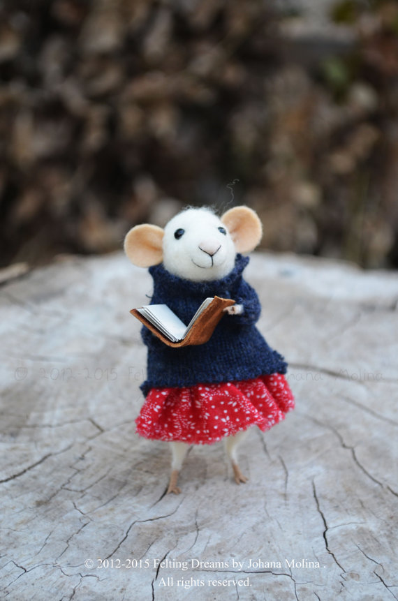 Felting Dreams needle felted mouse